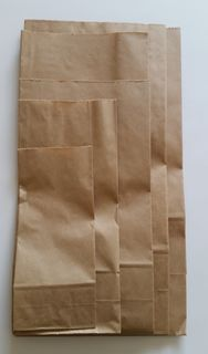 SOS Block Bottom Paper Bag #5 185x100x390mm - Fortune