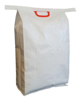 White BOPP Bag + Handle 550x325+110mm