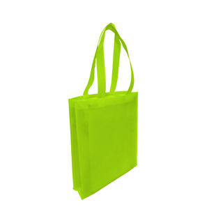 Tote with Gusset - LIME GREEN - Ecobags
