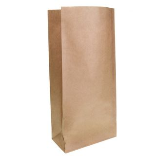 Brown Block Bottom Paper Bag No 4 Heavy Duty 185W x 445H (100mm gusset) - UniPak