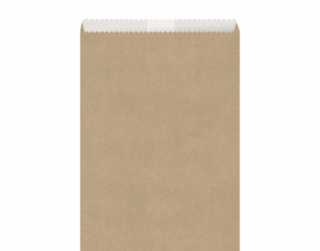 Greaseproof Lined Paper Bags #5 Flat, Brown - Castaway