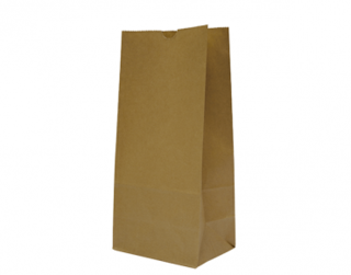 #12 SOS Paper Bags, flat bottom, Brown - Castaway