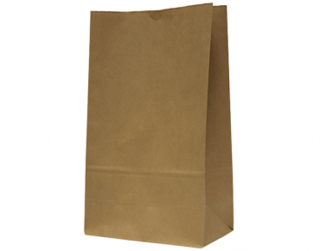 #16 SOS Paper Bags, flat bottom, Brown - Castaway