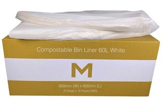 Bin Liner 60L Compostable White - Matthews