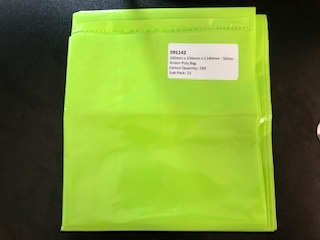 RUBBISH BAGS 350mm X 250mm X 1140mm - 50mu GREEN