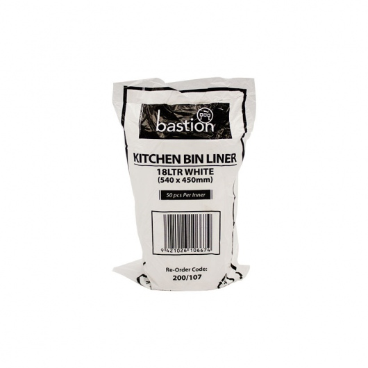 Bastion Kitchen Tidies 18ltr White Small - UniPak
