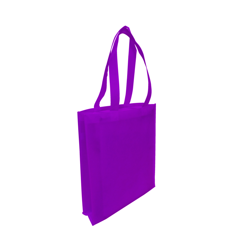 Tote with Gusset - PURPLE - Ecobags