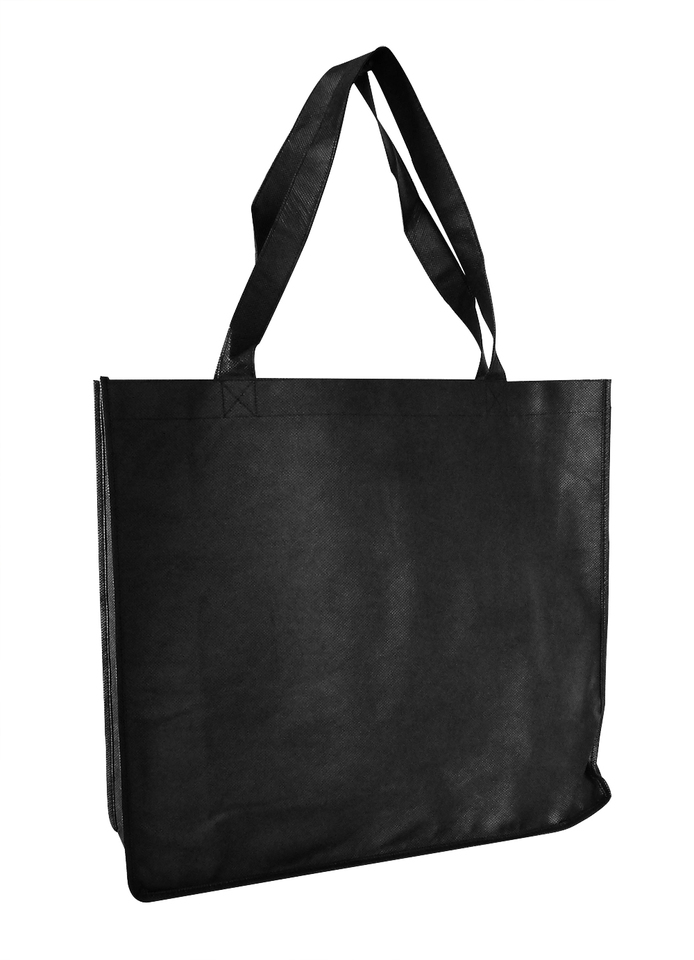 Tote with Gusset Book Bag Black - Ecobags