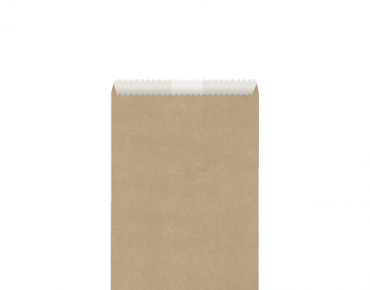 Greaseproof Lined Paper Bags #3 Flat, Brown - Castaway